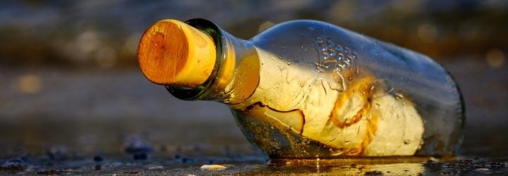 Flessenpost Duitsland 100 jaar oude fles