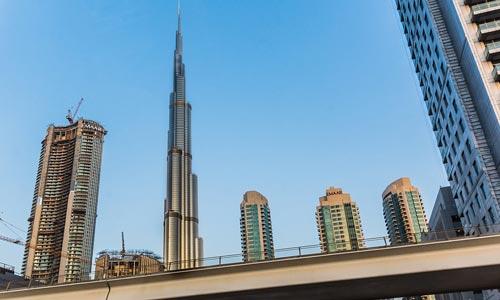 Dubai Burj Khalifa hoogste gebouw