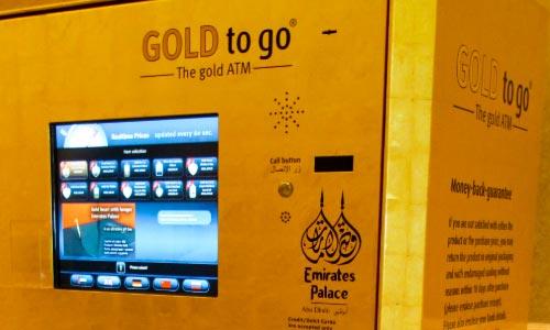 Dubai goud pinnen geldautomaat