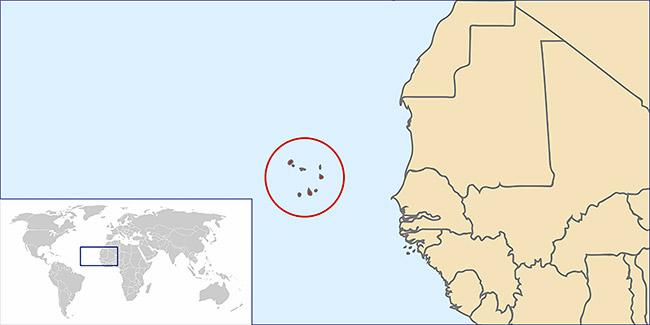 Kaapverdische Eilanden Locatie