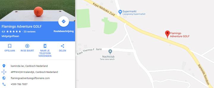 Locatie Flamingo Adventure golf Bonaire Google Maps