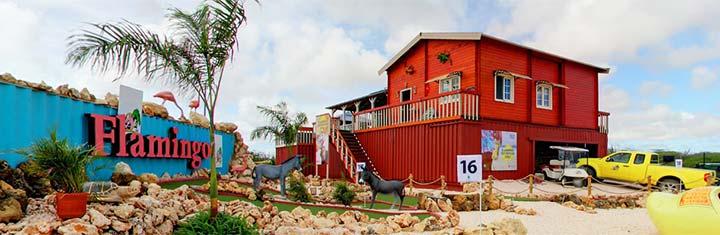 Locatie ik vertrek Bonaire flamingo golf de scheetjes