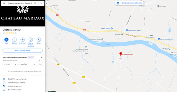 Google Maps Chateaux Mariaux