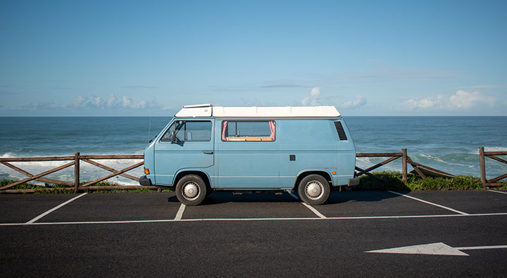 Camper in Portugal